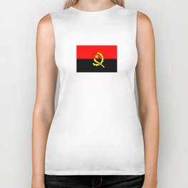 angola country flag Biker Tank