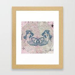 Double Mermaids Framed Art Print