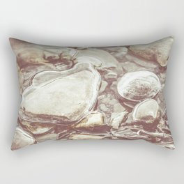 Ice Encased Rocks II Rectangular Pillow