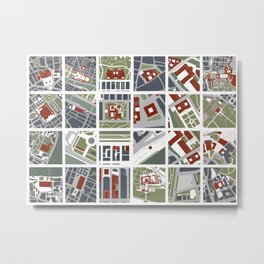 Urban fragments II of NewYork, Paris, London, Berlin, Rome and Seville Metal Print