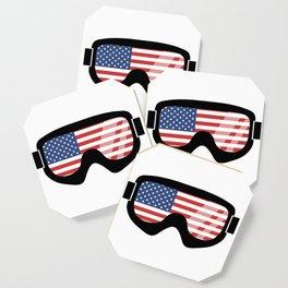 USA Goggles | Goggle Designs | DopeyArt Coaster