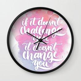 Challenge & Change Wall Clock