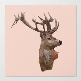 Deer Low poly Canvas Print