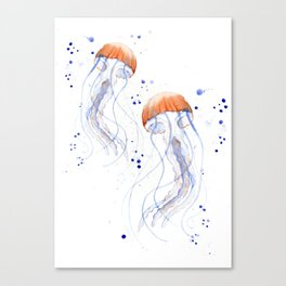 Jellyfishes Canvas Print