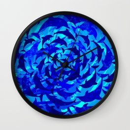 dolphins A Wall Clock