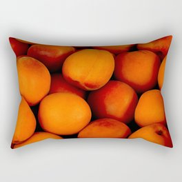 Beautiful peach fruit pattern Rectangular Pillow
