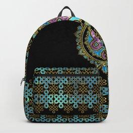 Endless Knot in Mandala Lotus shape Backpack