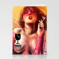 boob Stationery Cards featuring Fragile by Vincent Vernacatola