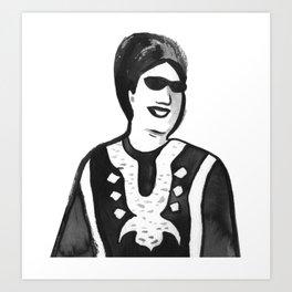 Portrait of Oum Kalsoum Art Print