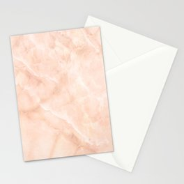Pale Pink Marble Stationery Cards