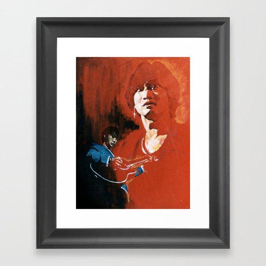 Wong Ka Kui  1962-1993 hong kong rock star Framed Art Print
