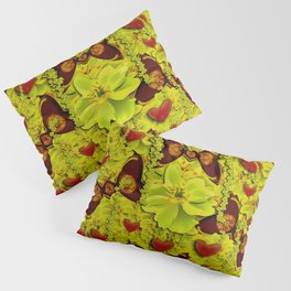 a rain forest filled of pure love and butterflies Pillow Sham