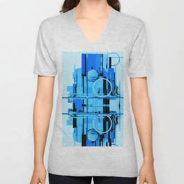 Abstract Composition 613 Unisex V-Neck