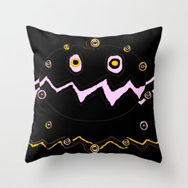 Halloween ghost pumpkin Throw Pillow