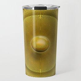 Golden Sunrise Pattern Travel Mug