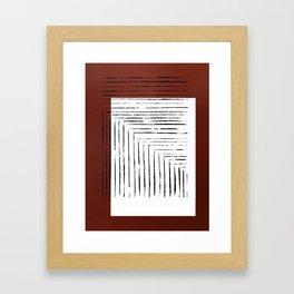 color block. rust Framed Art Print
