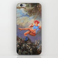 thundercats iPhone & iPod Skins featuring Thunder Swing by Hillary White