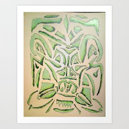 green and meen Art Print