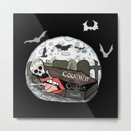 Coughin' Coffin  Metal Print