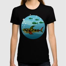 Le Requin SMALL Black Womens Fitted Tee