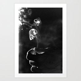SMOKE and LIGHT Art Print