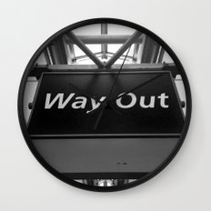 Way Out Wall Clock
