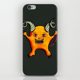 Cute Weird Horned Little Devil Creature iPhone Skin