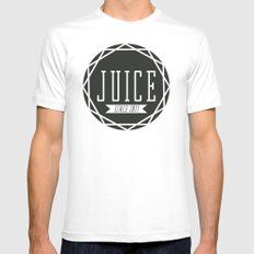 Juice Emblem White SMALL Mens Fitted Tee