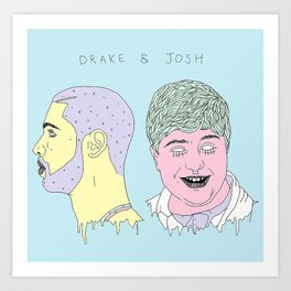 Dr8ke and Josh Art Print