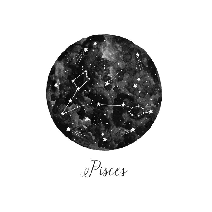 Pisces Constellation Duvet Cover
