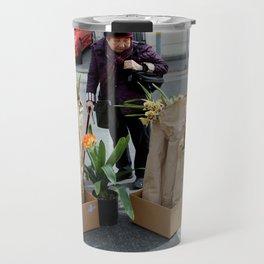 Caution - Orchid Crossing Travel Mug