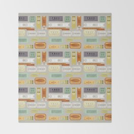Retro Tickets Throw Blanket