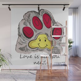 Cat's paw Wall Mural