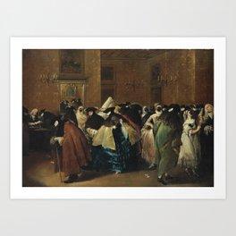 Francesco Guardi THE RIDOTTO IN VENICE WITH MASKED FIGURES CONVERSING Art Print