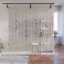 Amethyst Egyptian hieroglyphics on canvas Wall Mural