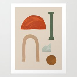 Shapes from Rome Art Print