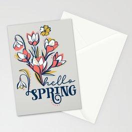 First Spring Flowers / Snowdrop, Primrose, Crocus Stationery Cards
