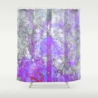 vagina Shower Curtains featuring Old Soul by Aaron Carberry