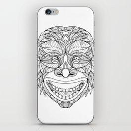 Chimpanzee Head Zentagle iPhone Skin