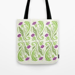 Thistles - Color Pattern Tote Bag