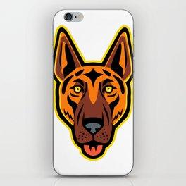 German Shepherd Dog Head Front Mascot iPhone Skin