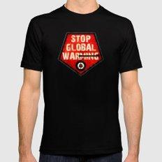 STOP GLOBAL MING ! Black Mens Fitted Tee MEDIUM