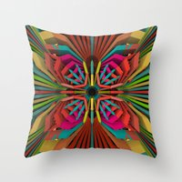 cyberpunk Throw Pillows featuring Tropica by Obvious Warrior