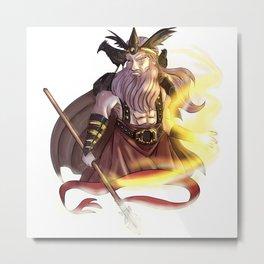Odin, the Allfather Metal Print