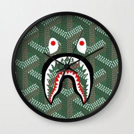 Goyard Bape Green Wall Clock