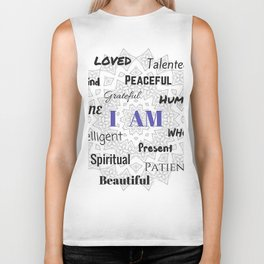 I AM... Positive Affirmation Biker Tank