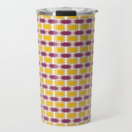 CVPA20019 Boysenberry Purple and Poppy Yellow Dots Travel Mug