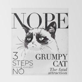 Grumpy the cat Throw Blanket