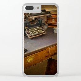 Vintage Writers Corner Clear iPhone Case