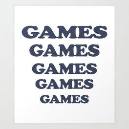 Adult Light Blue Adventureland Film Amusement Park Games Games Games Art Print